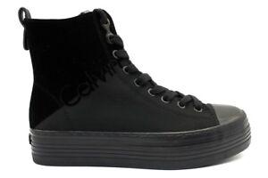 Calvin-Klein-Jeans-ZAZAH-NYLON-R0643-Nero-Sneakers-Polacchine-Casual-Donna