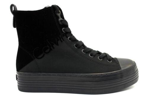 Calvin Casual Klein Donna Nero Zazah Nylon Jeans R0643 Polacchine Sneakers rrx8qFdw