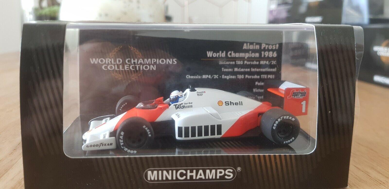 Minichamps - Alain Prost  - McLaren - Mp4 2C - 1 43 - 1986 - World Champion  jusqu'à 70% de réduction
