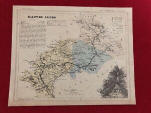 PerséVéRant Ancienne Carte Géographique Du Département Des Hautes Alpes Atlas National MatéRiaux De Choix