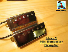 G.M. Mini Humbucker Set Alnico Magnets Chrome (set of 2 Neck and Bridge 50/52mm)