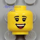NEW Lego Female MINIFIG HEAD Princess Girl Pink Lips Smile Shut Eyes Sleep Face