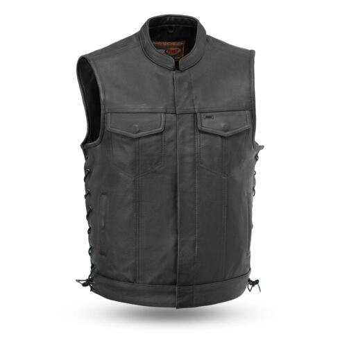 Drum Dye Naked Cowhide First Manufacturing Leather Vest FIM685CSLSniper