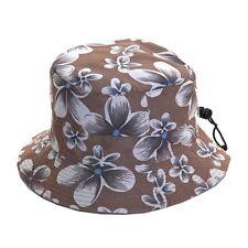 Unisex Packable Adjustable Brown Bush Hat - Great for Holidays & Music Festivals