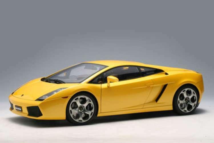 AUTOART 2003 LAMBORGHINI GALLARDO jaune 12091 1 12  Grande voiture  NEUF  - RARE