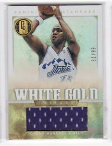 2012-13-Danny-Manning-99-Jersey-Panini-Gold-Standard-Jazz-White-Gold