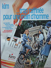 PUBLICITÉ DE PRESSE 1975 CIGARETTE KIN - MINI VÉLO - ADVERTISING