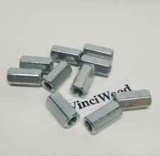 Qty 10 516 18 X 78 Coupling Nut Rod Connector Zinc 12 Width