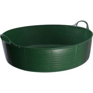 35L vert shallow véritable baignoire trug, trug, feeder, cheval, animal  </span>