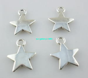 40//120pcs Tibetan silver five-pointed star Charms Pendant 10*13mm