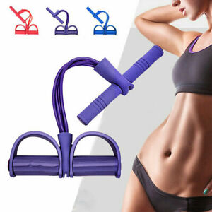 Multi-Function Tension Rope Resistance Pull Band Foot Pedal Exerciser 4 Ropes