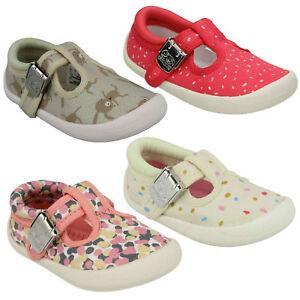 5a762a3e La imagen se está cargando Choc-Pastel-Infantil-Clarks-Nina-Zapatillas-Lona- Zapatos-