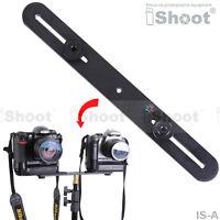 "Metal Camera Holder/Flash Bracket Mount with 2*1/4"" Screw&3*1/4"" Female Thread"