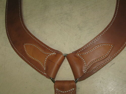 New horse tack Y cut pulling breast collar saddle heavy oil