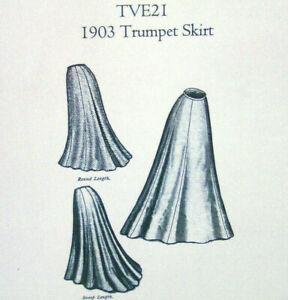 Edwardian 1903 Circular Trumpet Skirt Sewing PatternTruly Victorian TVE21