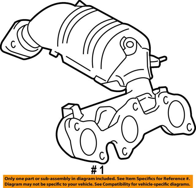 Exhaust Manifold Sienna 1163085 07 08 09 10