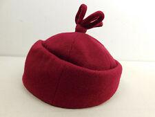 Vintage YVES SAINT LAURENT YSL Hat Cap Womens Violet Magenta Bergdorf Goodman
