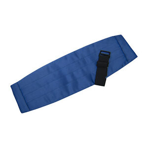 Royal Blue Satin Cummerbund