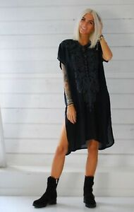 Johnny-Was-Embroidered-LANIA-Oversized-Long-Tunic-Women-s-Size-Small-285