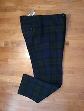NWT J Crew Men's 100% Pure New Wool Harris Tweed Plaid Lined Pants 34X30