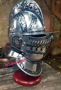 Halloween-Medieval-Metal-Etching-Design-Bergonet-Great-King-Helm-larp