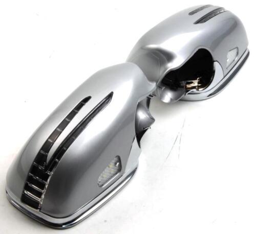 Spiegelkappen Silber chrom+LED Blinker Mercedes W211//S211 Baujahr 2006-2009