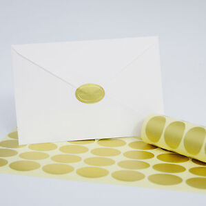 Image Is Loading 100 Pack Gold Oval Foil Embossed Wedding Invitation