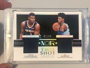 Zion-Williamson-Ja-Morant-NOIR-Rookie-Dual-Shot-RC-Swatch-99-Read-Description