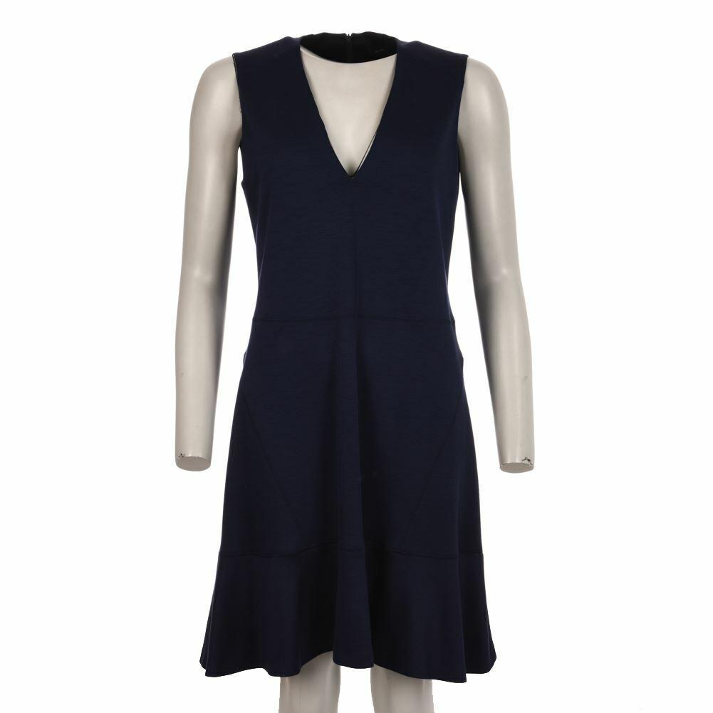 JOSEPH Dress Blau Virgin Wool Blend Sleeveless Größe 42 UK 10 JS 128