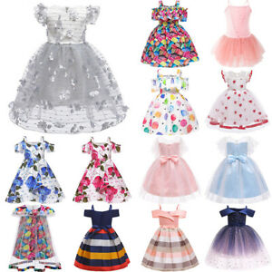 Kids-Girls-Wedding-Birthday-Party-Bridesmaid-Pageant-Flower-Tutu-Tulle-Dresses