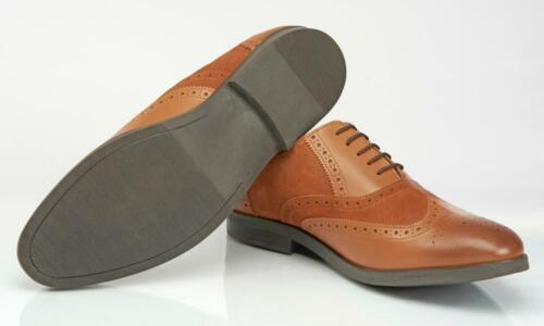 Hall /& Sloane Leather /& Suede Tan Lace Up Brogue Shoes UK 7//Euro 41 RRP £69