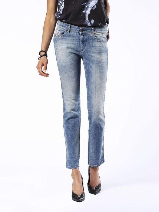 Diesel Sandy 0675D Elasticizzato Jeans Pantaloni women Diritto Sottile