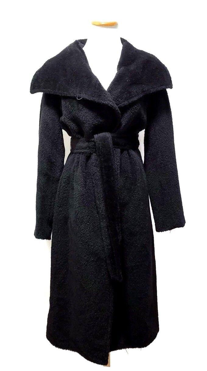 JONES YORK para mujer Negro  Imitación Piel NEW el Fuzz Abrigo Oso de Peluche de longitud completa de Tamaño 6  calidad garantizada
