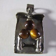 Anhänger 835 Silber Tigerauge 60er Jahre OLY RELO TEKA ART 60s vintage pendant