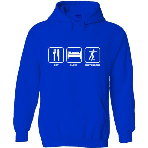 Eat sleep skateboard men/'s hoody hoodie funny birthday gift skateboarding