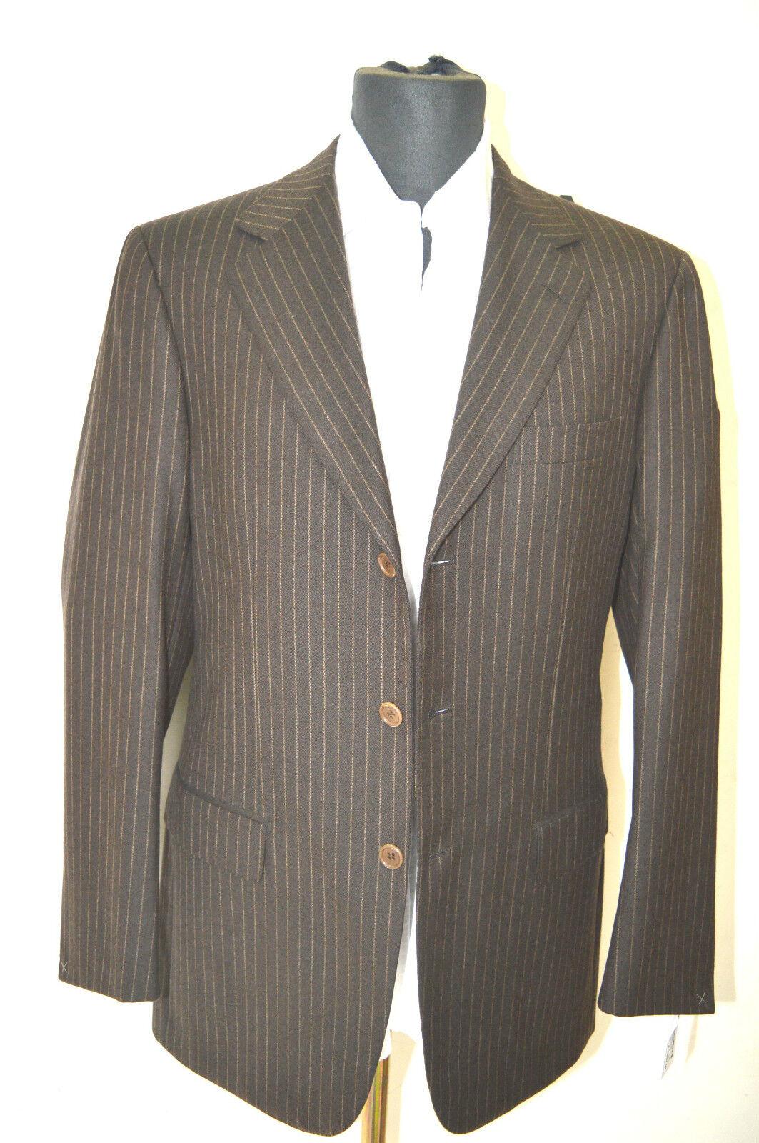 NEW BRIONI Nomentano  Suit  super 150's  Wool  38 Us 48  Eu (BRO 35)