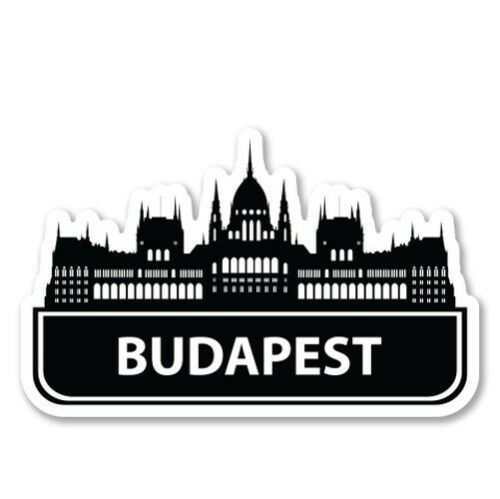 Budapest Car Laptop Phone Vinyl Sticker SELECT SIZE