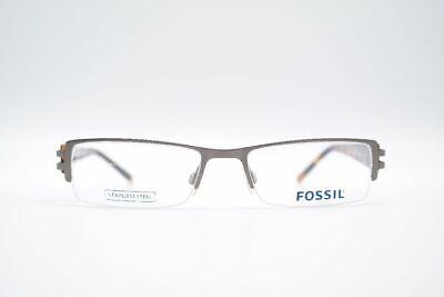 100% Wahr Fossil Rowland Of1166 52[]18 140 Grau Braun Halbrand Brille Brillengestell Neu Wohltuend FüR Das Sperma