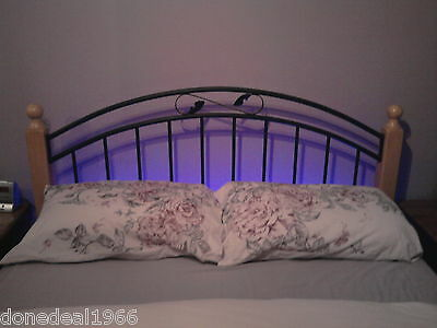 "Home & Garden Bedroom Ambient Mood Lighting 5'0"" King Size Bed"