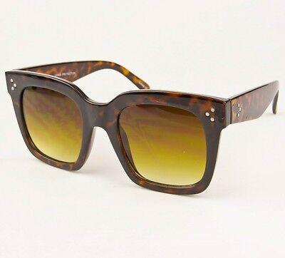 Vintage Style Big Square Tilda Flat Audrey Large Boho Fashion Sunglasses 6601
