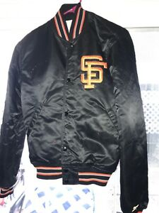 Vtg-80s-Orange-Crush-Beverage-Patches-Drink-SF-giants-Satin-Starter-Jacket-Men-M