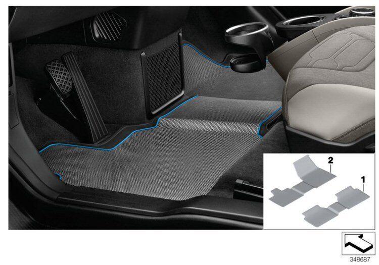 Original BMW i3 Fussmatten-Set vorne BMWi3 NEU 51472348072 2348072