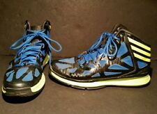 Adidas Crazy Shadow 2 Q33378 Basketball Shoes Size 11 1/2 Black Blue Neon Green