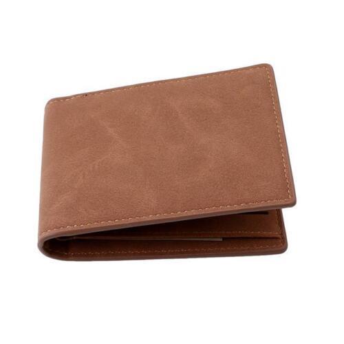 Men/'s Clutch Bag Bifold Card Holder Wallet PU Leather Coin Case Mini Purse CF