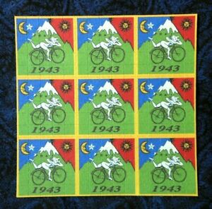 Blotter-Art-034-Bicycle-Day-034-Perforated-Collection-Paper-Hoffman-Bike-Ride-1943