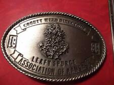 1989 County Weed Directors Association of Kansas Belt Buckle Leafy Spurge 182