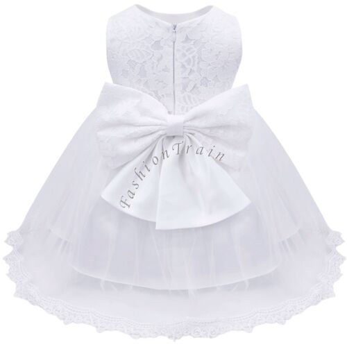 Baby Girl Formal Dress Christening Baptism Wedding Party Pageant Gown Bridesmaid
