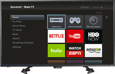 "Sharp - 43"" Class (42.5"" Diag.) - LED - 1080p - Smart - HDTV - Roku TV - Black"