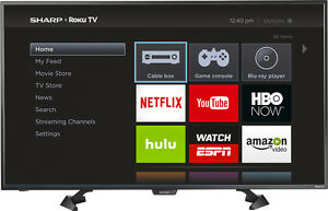 "Sharp - 43"" Class (42.5"" Diag.) - LED - 1080p - Smart - HDTV - Roku TV"