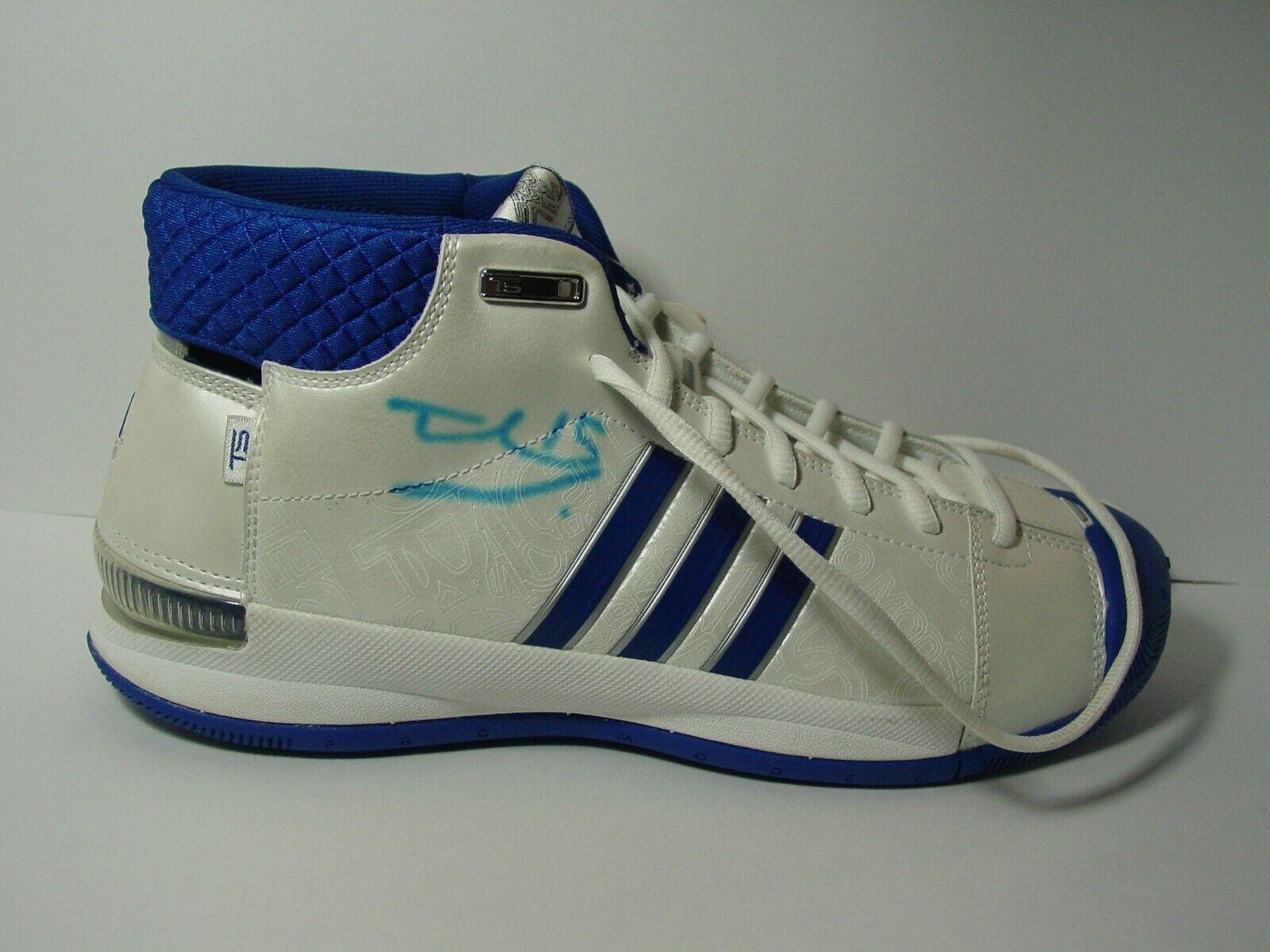 Adidas AST TS PRO MODEL Basketball shoes White w  bluee  SIZE 10